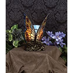 Quoizel TF6599R One Light Tiffany Table Lamp, Small, Architectural Bronze