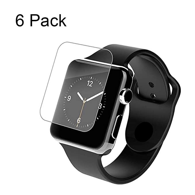 [6-Pack] Apple Watch Serie 4-44 mm Protector Pantalla Cristal Templado 9H Dureza, Anti-Golpe, Sin Burbujas, Anti-Huella Clear Vidrio Templado para ...