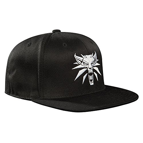 JINX The Witcher 3 White Wolf Medallion Snapback Baseball Hat (Black, One Size)