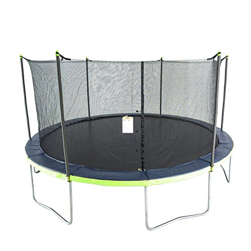 51GTgL nAZL - ActivPlay 14' Round Trampoline & Enclosure, Blue/Green