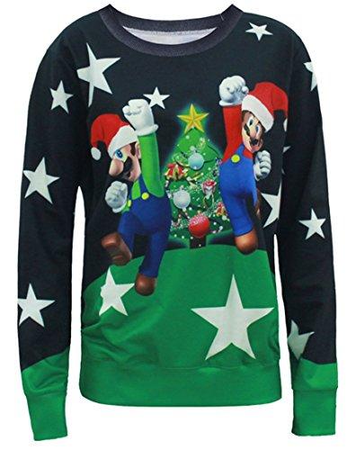 Belsen Mujer Navidad jersey movimiento Camiseta Sudaderas Mary
