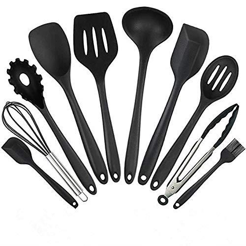 Conjunto de utensilios de cocina, utensilios de cocina de silicona Juego de 10 piezas Set