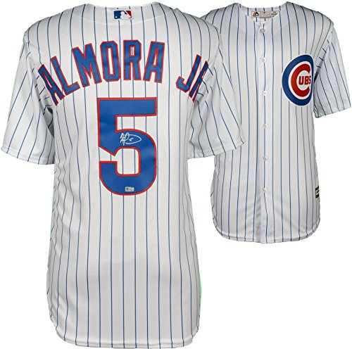 Albert Almora Jr. Chicago Cubs Autographed Majestic White Replica Jersey - Fanatics Authentic Certified Chicago Cubs Autographed Majestic Jersey