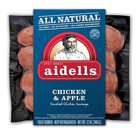 Aidells Chicken & Apple Smoked Chicken Sausage 12 Oz (4 Pack)