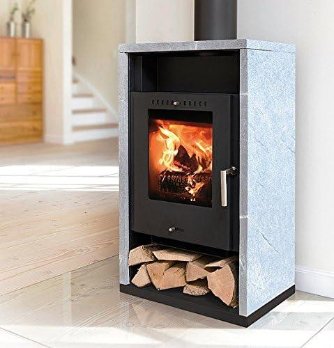 Estufa de leña Asgård 7 SK negro 5 kW horno de leña: Amazon.es ...