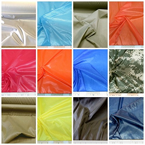Discount-Fabric-Ripstop-Rip-Stop-Nylon-Water-Resistant-Choose-Your-Color