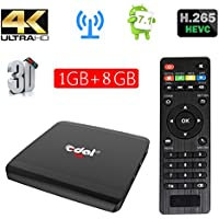 Edal R1 Android 7.1 1GB/8GB Smart TV Box S905W Quad-core Cortex A7 1.5GHz 32bit 4K2K Support 802.11 b/g/n, 2.4G