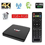 Edal R1 Android 7.1 1GB/8GB Smart TV Box S905W Quad-core Cortex A7 1.5GHz 32bit 4K2K Support 802.11 b/g/n, 2.4G wifi