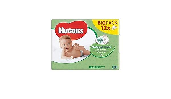 Bebé Huggies Cuidado Natural Toallitas De 12 X 56 Por Paquete - Paquete de 2: Amazon.es: Bebé