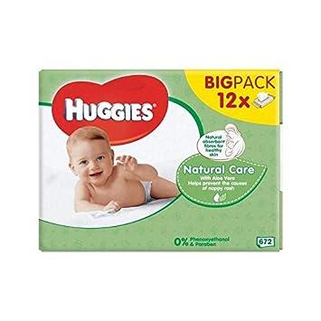 Bebé Huggies Cuidado Natural Toallitas De 12 X 56 Por Paquete - Paquete de 6: Amazon.es: Bebé