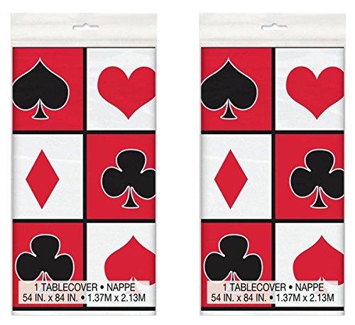 Poker Night Plastic Tablecloth, 84