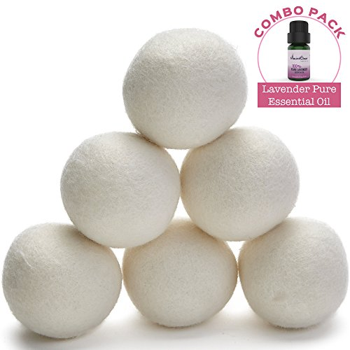 Mountclear Wool Scented Oil Fabric Natural,Chemical Free Reusable Time Saves Time and Money-Laundry Balls