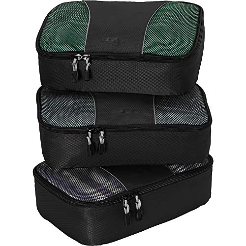 eBags Small Packing Cubes - 3pc Set (Black)