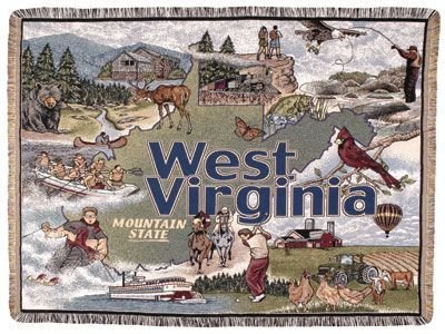 - Simply State of West Virginia Tapestry Throw