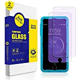 SmartDevil Screen Protector for iPhone 8 7 6s 6 Screen Protector [2 Pack], Anti Blue Light Filter Film [ Eye Protect ] [ Touch Screen Accuracy ] [Bubble Free] Tempered Glass for Apple 8/7/6s/6