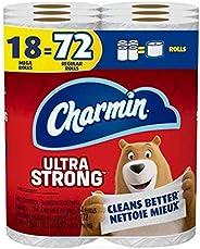 Charmin Ultra Strong Toilet Paper 18 Mega Rolls Bathroom Tissue = 72 Regular Rolls