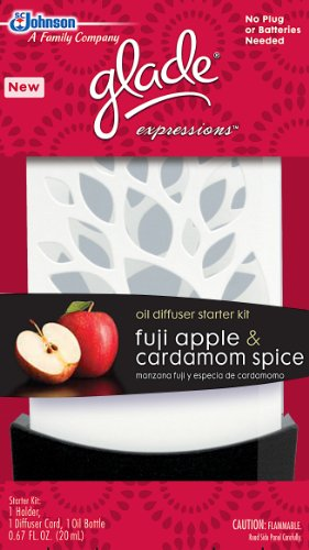 Glade Expressions Oil Diffuser Starter, Fuji Apple and Cardamom Spice, 0.67 Ounce