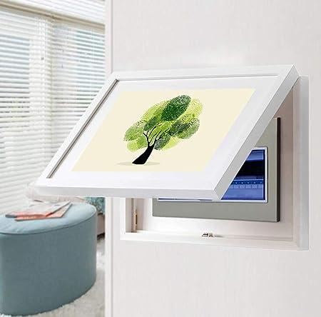 Caja de medidores eléctricos pintura decorativa no necesita perforar corredor minimalista moderno puede empujar y tirar de la caja de la puerta eléctrica pintor con tapa del interruptor,A,40x30cm: Amazon.es: Hogar