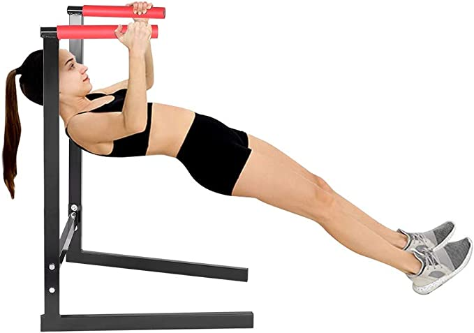 Indoor Dipping Station Fitness Strength Training Exercise Dip Bar Slings Loops