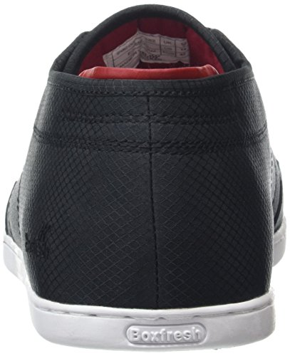 BoxfreshSPARKO ICN RIP NYL BLK/CH RED - Zapatillas Hombre Negro (BLACK/CHILLI RED)