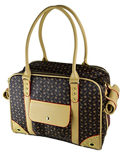 Dog Carrier Handbags - BETOP Pet Carrier Tote Around Town Pet Carrier Portable Dog Handbag Dog Purse for Outdoor Travel Walking Hiking, Brown, 15.75''11.81''7.87''
