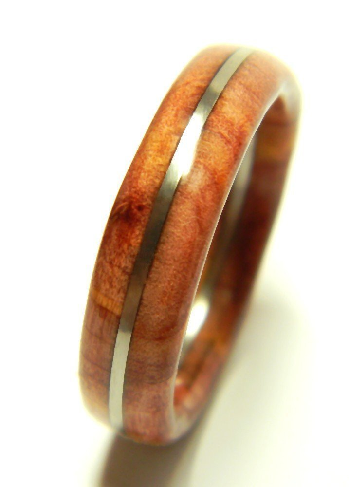 Wood Ring by Saxon Woodworks | Eastern Red Cedar Wood Wedding Band | Alternative Wedding Band