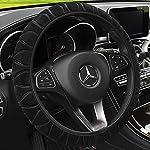 Universal Soft Comfy Plush Car Steering Wheel Cover Winter Warm Steering Wheel Cover Sets Anti-Slip Wheel Sleeve…
