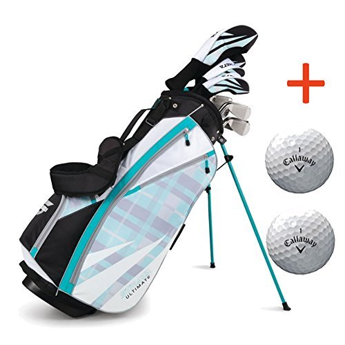 Bundle:Callaway Women's Strata Ultimate Complete Golf Set with Bag, 16-Piece, Right Hand,with Two...