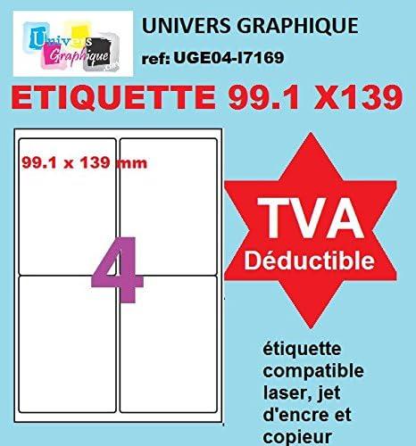 320 etiquettes 99,1 X 33,9 mm soit 20 feuilles de 16 /étiquettes autocollantes pour imprimante jet dencre et Impression laser ./ét 320 /étiquettes 99.1 X 33.9 mm /étiquettes pour adresse blanches adh/ésives personnalisables