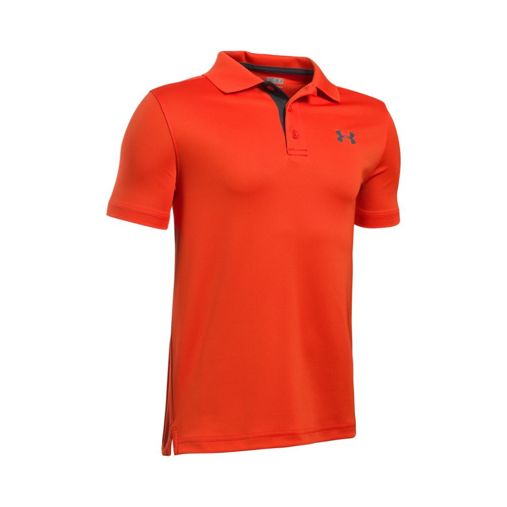 Under Armour Kids Boy's Performance Polo (Big Kids) Dark Orange/Rhino Gray Shirt