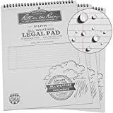 Rite in the Rain Weatherproof Legal Pad, 8 1/2'' x 11'', Gray Cover, Legal Pattern, 3 Pack (No. LP785X3)