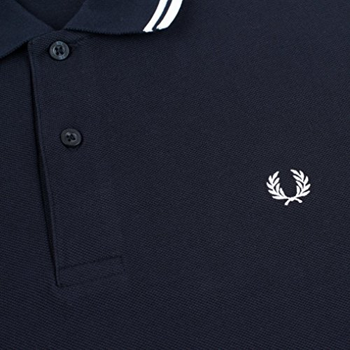 Fred Perry Men's Twin Tipped Polo Shirt-M1200, Navy/White/White,