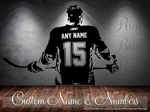 Hockey Decal - Custom Name and jersey numbers - Hockey...
