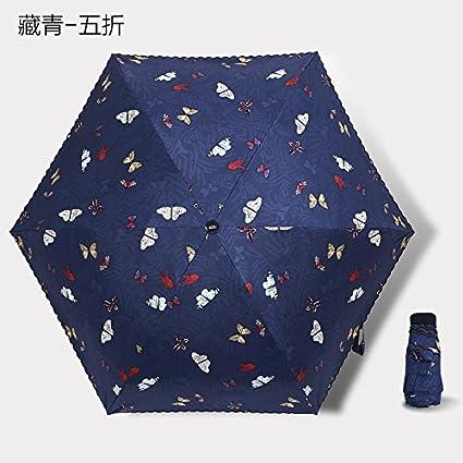 Olici Ultra Light Mini Bolsillo Paraguas Sombrilla Paraguas De Sol Protección Solar Pequeños Refrescante Negro De
