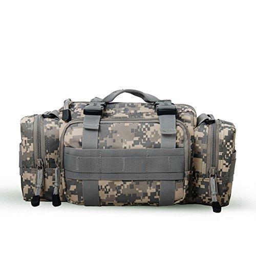 3P táctico multifuncional bolsas Militar Molle bolsa riñonera bum Bolsas de hombro, bolsillo para acampada de senderismo montañismo, Jungle Camouflage - ACU Camouflage