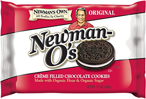 Newman's Own Newman-O's, Crème Filled Chocolate Cookies, 13-Ounce Packages (Pack of 6)