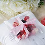 BalsaCircle 50 pcs 4-Inch Clear Plastic Pillow Wedding Favor Boxes Party Birthday Candy Gifts Packaging Decorations Supplies
