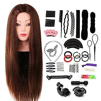 Neverland 60cm übungskopf Frisierkopf Friseur 60 Echthaar Haar