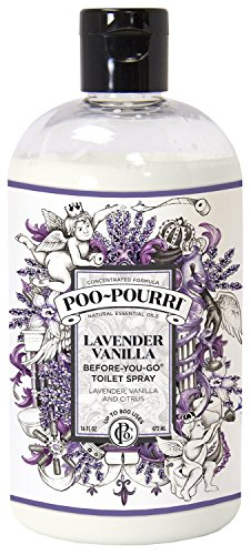 Poo-Pourri Lavender Vanilla 16-Ounce Refill Bottle, by Poo-Pourri