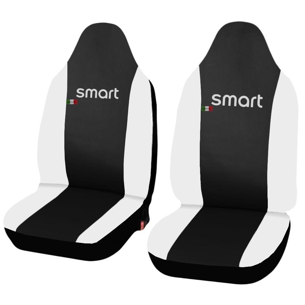 Lupex Shop Smart.2S.Ec/_N.Bi Coprisedili Auto in Ecopelle Nero Bianco