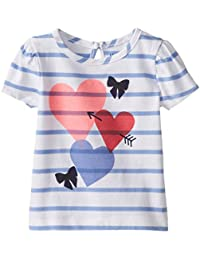 Baby Girls' Girl's Knit Jersey Heart Tee