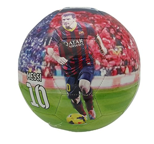 iSport Gifts Lionel Messi #10 Barcelona Kids Soccer Ball ✓ Size 5 for Kids & Adult ✓ Premium Gift Youth Soccer Ball ✓ Unique Design ✓ Durable Soft Construction (Size 5, Messi #10)