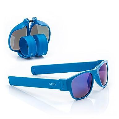 Sunfold Eternal Sunshine Gafas de Sol Enrollables, Hombre, Azul, Talla Única