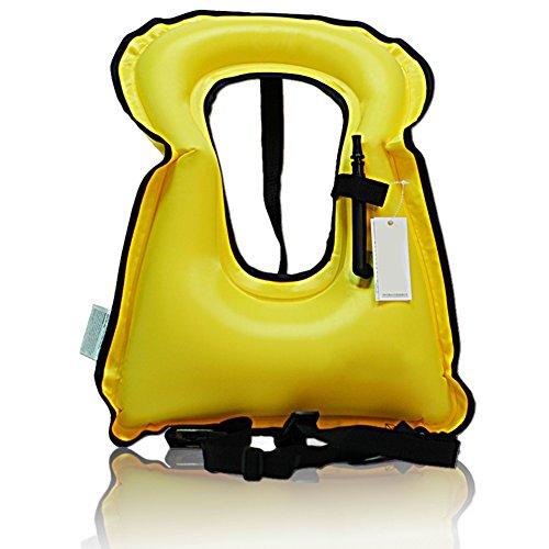 edtara life-vest Baker chaleco de seguridad, chaleco salvavidas flotabilidad snorkel chaleco inflable portátil para niños o...