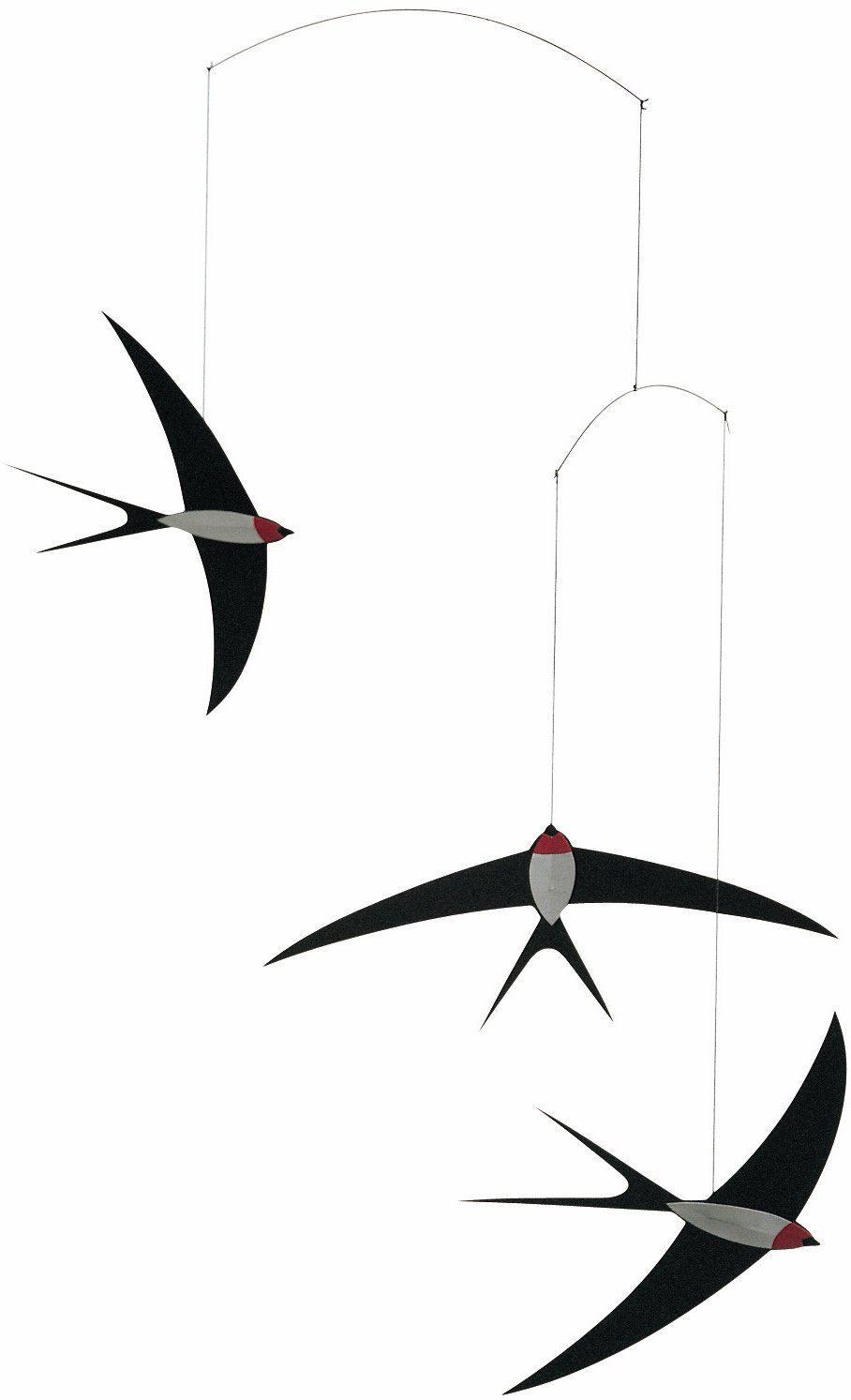 Flensted Mobiles 3 Swallow Hanging Mobile - 20 Inches Cardboard by Flensted Mobiles