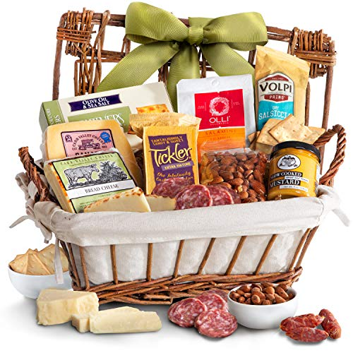 Golden State Fruit Gourmet Cheese & Meats Hamper Gift Basket