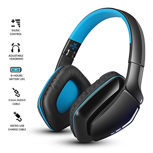 oldshark foldable over ear bluetooth headphones with mic v4 1 wireless and wired dual mode. Black Bedroom Furniture Sets. Home Design Ideas