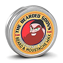 The Bearded Goon's Mustache and Beard Wax - 100% Natural, Ridiculously Strong, All-Day Styling Control with Ultra-Strong Hold, Mild Scent, Free of Chemicals, Alcohol and Parabens, 1 oz.