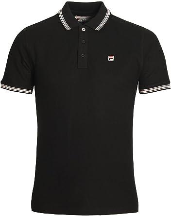 Fila Vintage Matcho Polo Shirt Black Small 36