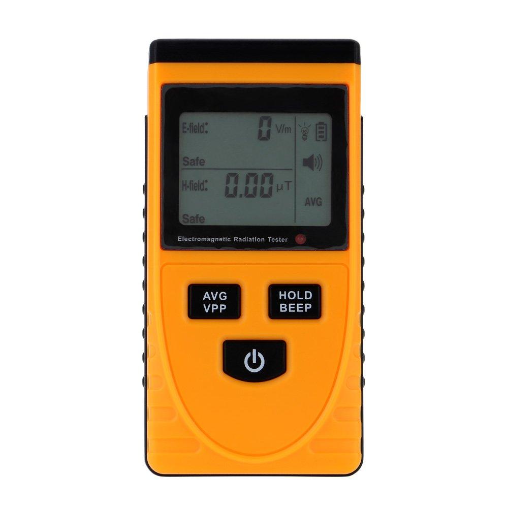 Baugger EMF Meter, Electromagnetic Field Radiation Detector Meter with LCD Display Mini EMF Detector Dosimeter Tester Counter